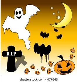 Halloween elements - vector