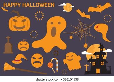 Halloween elements. vector illustration.