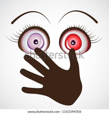 Halloween Eye Hand Palm Horror Anime Stock Vector Royalty Free