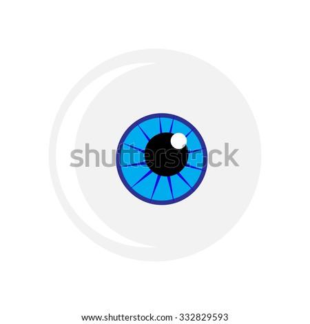 Halloween Eyeball Vector Symbol Blue Eye Stock Vector Royalty Free