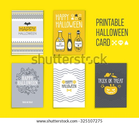 halloween five sides poster flyer halloween stock vector royalty