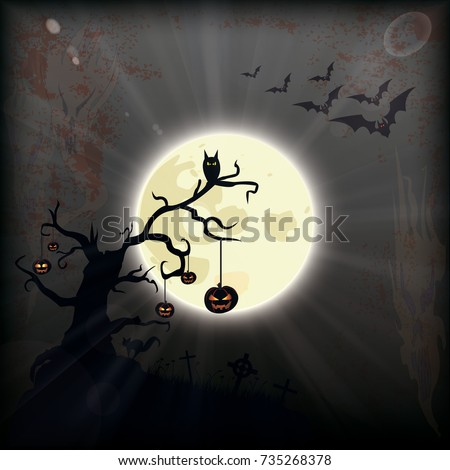 halloween flyer background design bats moon stock vector royalty