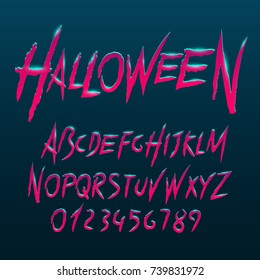 Halloween font, Letters and Numbers