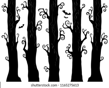 Halloween forest theme image 1 - eps10 vector illustration.