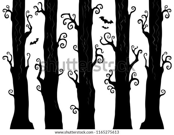 Halloween forest theme image 1 - eps10 vector illustration.