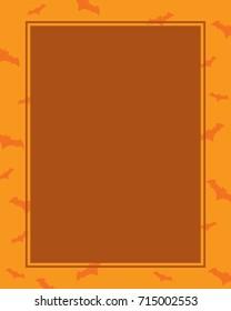 Halloween frame with orange background