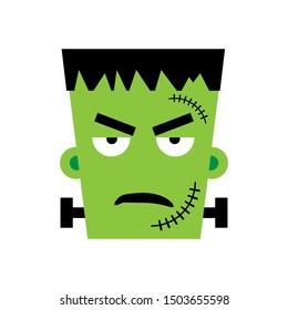 Halloween Frankenstein Vector illustration. Angry Frankenstein Day. Illustration for kids