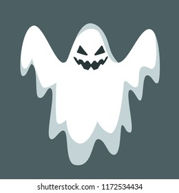 Halloween ghost character. Ghost isolated. Halloween concept. Vector stock.