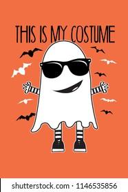 halloween ghost costume vampires poster apparel