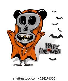 halloween ghost death cartoon vector