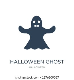 halloween ghost icon vector on white background, halloween ghost trendy filled icons from Halloween collection, halloween ghost vector illustration