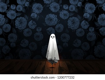 Halloween, Ghost, treat or trick, Vector illustration,  horizontal Poster, you can place relevant content on the area.
