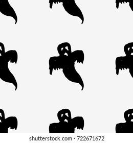 Halloween ghost. trick or treat. Flat vector stock illustration. seamless pattern