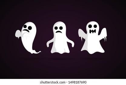 halloween ghost vector image, cartoon ghost vector image