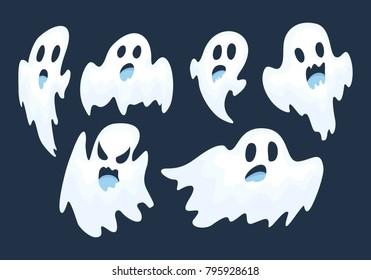 halloween ghost vector set