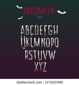 Halloween hand drawn font