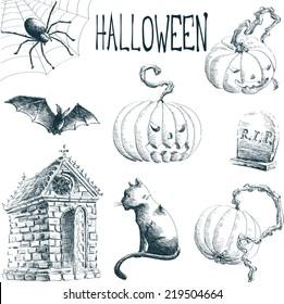 Halloween / hand drawn style