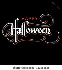 'halloween' hand lettering - handmade calligraphy, vector (eps8)