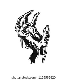 Halloween hands, vector illustration