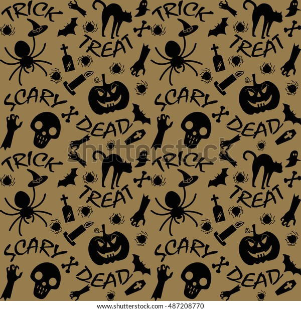 Halloween Happy Party Wallpaper Background Vector Stock Vector Royalty Free 487208770