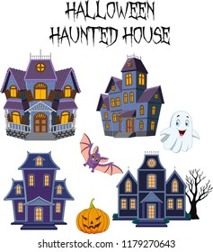 Halloween Haunted house collection set