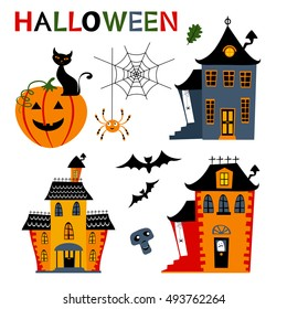 Halloween haunted houses collection