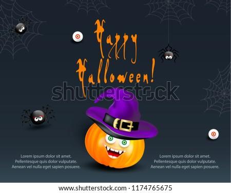 halloween holiday design template card flyer stock vector royalty