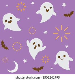Halloween holiday pattern background.