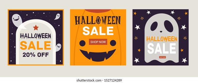 Halloween holiday square pattern discount orange and purple haunted