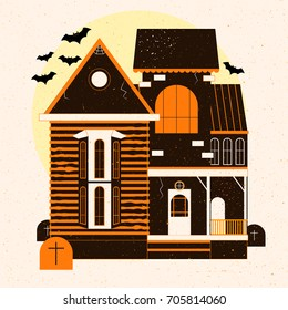 A Halloween horror house.Vector illustration
