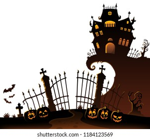 Halloween house silhouette theme 6 - eps10 vector illustration.