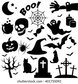 Halloween icon isolated on white background. Vector art.