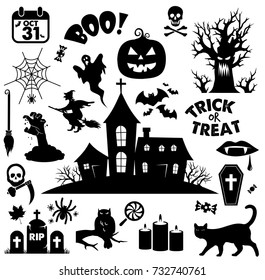 Halloween icon set VECTOR, beautiful collection