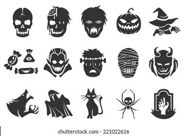Halloween icons - illustratiion
