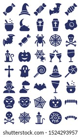 Halloween isolated Vector icons set every single icons can be easily modified or edited