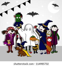 Halloween Kids / Vector Illustration