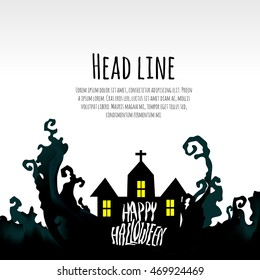 Halloween layout design template. Poster, brochure, card, background etc. vector file