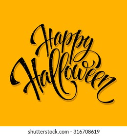 Halloween lettering greeting card EPS 10