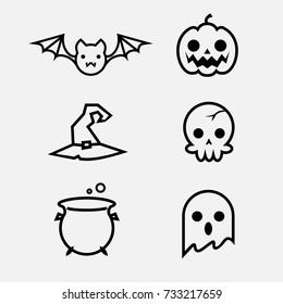 Halloween Line Icons little set