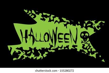 Halloween message design background