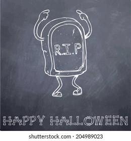 Halloween Monster RIP Chalkboard