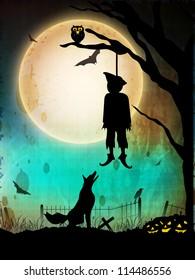 Halloween night background. EPS 10.