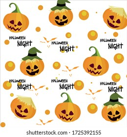 Halloween night concept on white background vector