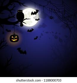 Halloween night spooky illustration VECTOR