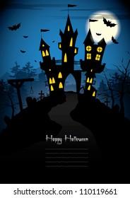 Halloween night - vector background