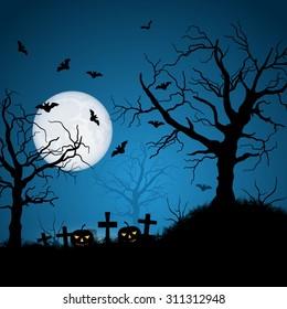 Halloween night vector background