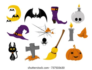 Halloween Objects and Icons