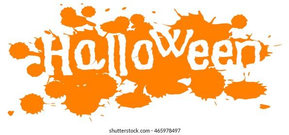halloween orange inscription