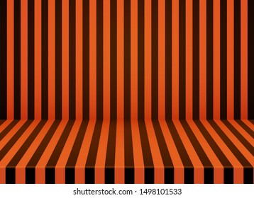 Halloween orange-black striped room background.