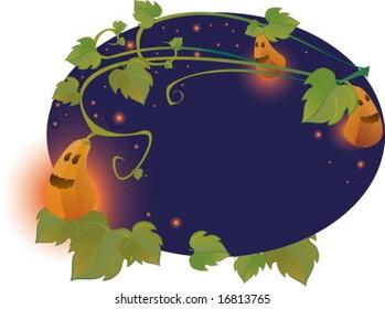 halloween oval frame